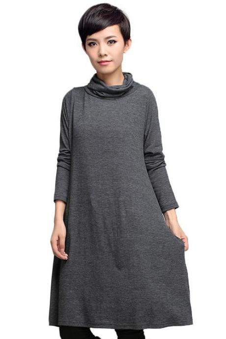 Women's Basic Dress Spring Pullover Top